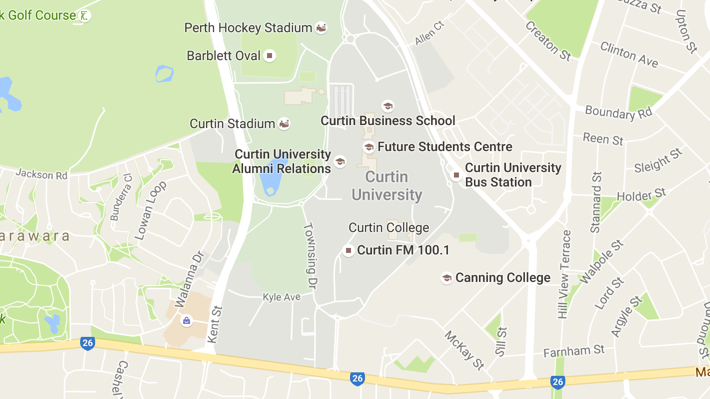 Google Maps of Curtin University
